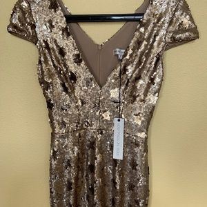 Dress the population sequined gown. Never worn.